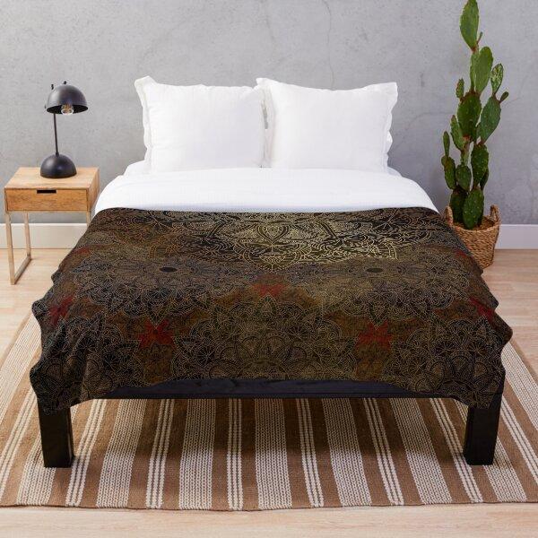 Mandala - Bronze Throw Blanket