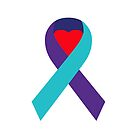 Support Suicide Awareness - Ribbon Only by charliedelong