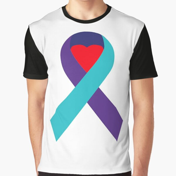 Support Suicide Awareness - Ribbon Only Graphic T-Shirt
