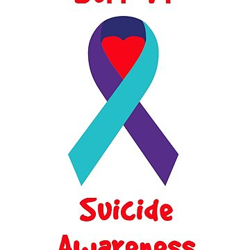 Support Suicide Awareness - Ribbon by charliedelong
