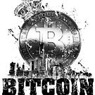 Bitcoin City Grunge by Mehdals