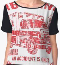 EMERGENCY RIDE AMBULANCE - ambulance shirt motif Chiffon Top