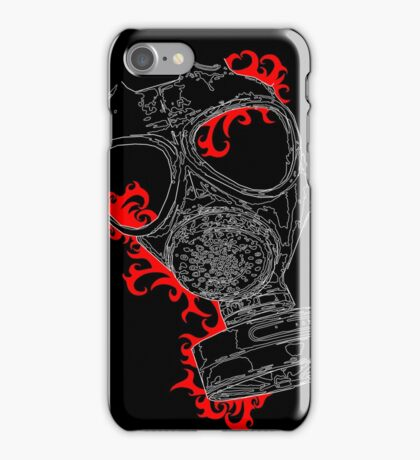 gas mask red iPhone Case/Skin