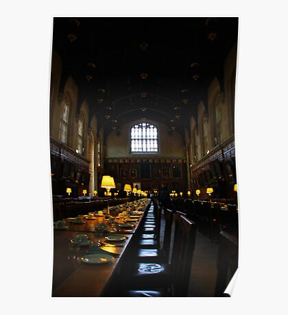 Dining Hall, Christ's College, Oxford. Poster