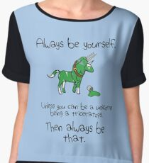 Always be a Unicorn being a Triceratops Women's Chiffon Top