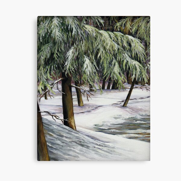 The Quiet through the Trees Canvas Print