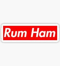 Rum Ham Box Logo Sticker