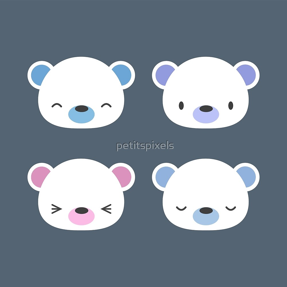 Cute polar bears by petitspixels