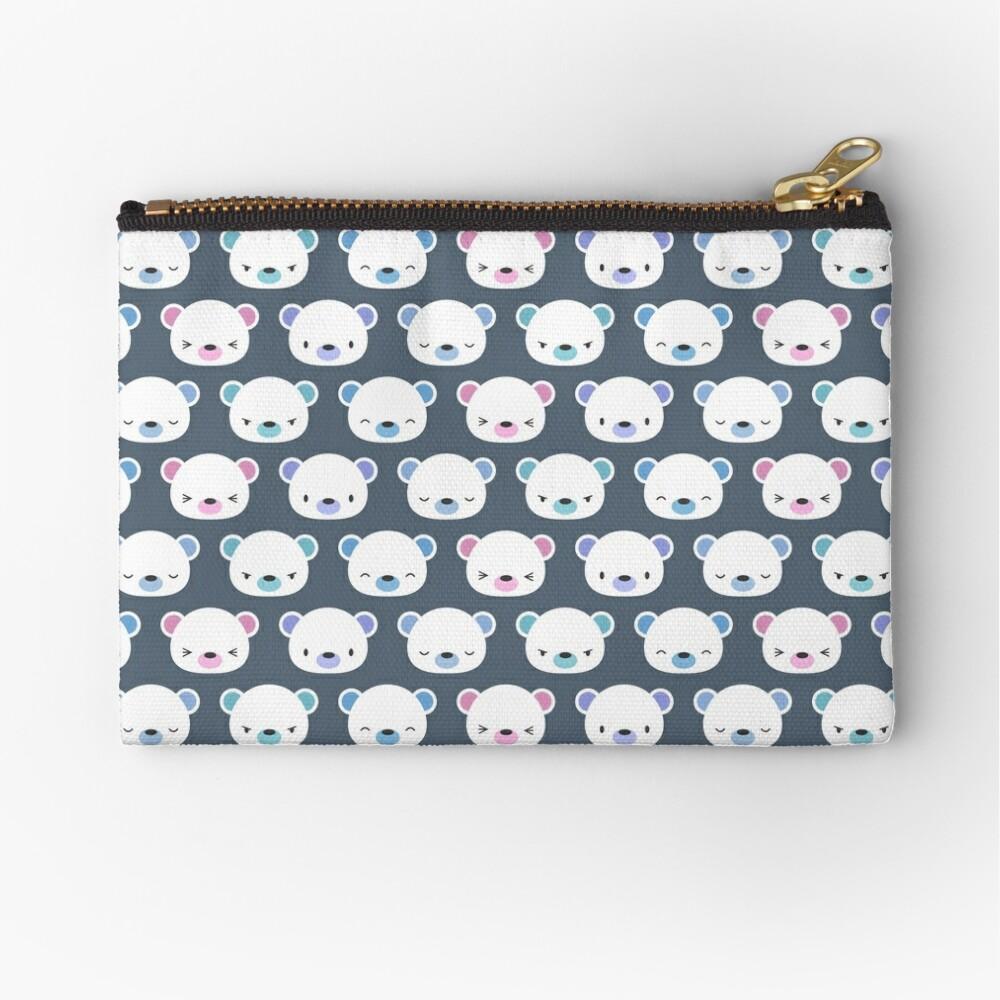 Cute polar bears Zipper Pouch
