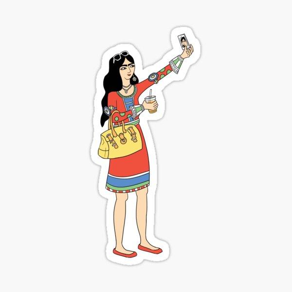 Persian Woman Selfie Sticker