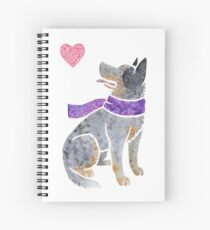 Watercolour Australian Cattle Dog Spiral Notebook