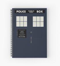 New Tardis Door Spiral Notebook