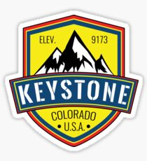 Skiing Keystone Colorado Mountains Ski Snowboarding Sticker