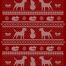Ugly Christmas sweater dog edition - Jack Russell Terrier red by Camilla Mikaela Häggblom