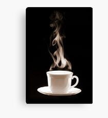 Cup of Hot Coffee with Steam Canvas Print