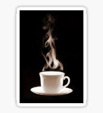 Cup of Hot Coffee with Steam Sticker