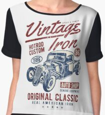 HOTROD - Vintage Iron Hot Rod Shirt Motiv Chiffon Top