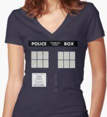New Who Women's Fitted V-Neck T-Shirt