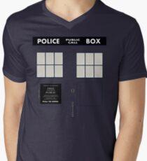 New Tardis Door Men's V-Neck T-Shirt
