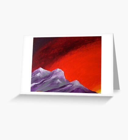 Grounded, at sunset Greeting Card