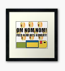 Roblox Feed the Noob Framed Print