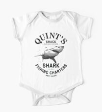 Quint's Shark Fishing Charters Variant One Piece - Short Sleeve