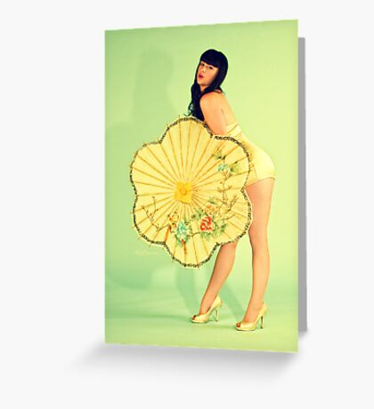 PinUp 50s poster Greeting Card