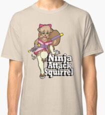 Ninja Attack Squirrel 2 Classic T-Shirt