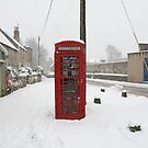 Red Telephone Box in the Snow by Flo Smith