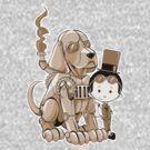 A Victorian boy and his dog by Benjamin Bader