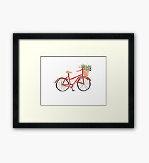 Ruby Red Bicylcle Framed Print
