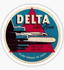 Vintage Delta Airlines USA Sticker