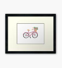 Blush Pink Bicycle Framed Print