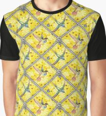 Wallpaper pattern design Bling Birds 5 Edouard Artus Graphic T-Shirt