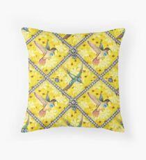 Wallpaper pattern design Bling Birds 5 Edouard Artus Throw Pillow