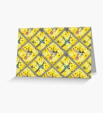 Wallpaper pattern design Bling Birds 5 Edouard Artus Greeting Card