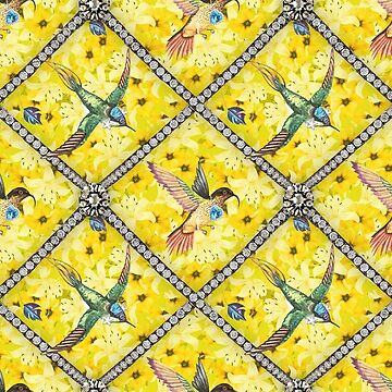 Wallpaper pattern design Bling Birds 5 Edouard Artus by EdouardArtus