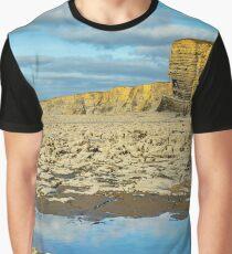 Nash Point Beach Glamorgan Heritage Coast Wales Graphic T-Shirt