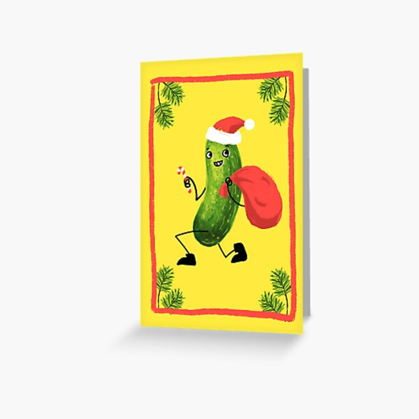 Christmas Pickle Greeting Card