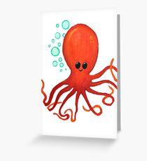 Cute Little Octopus Oceam Friend Greeting Card