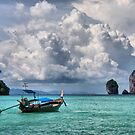 Longtail on Phi Phi by Robyn Lakeman