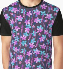 Seamless floral pattern with watercolor  flowers Graphic T-Shirt