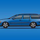 Sonic Blue Volvo V70 R P2 by Tom Mayer
