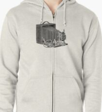 Seroco Folding Camera - 1907 Model Zipped Hoodie