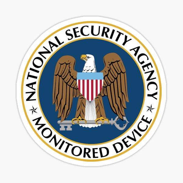 NSA Monitered Device - No Markup! Sticker
