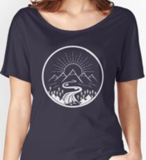 Mountain River Illustration Women's Relaxed Fit T-Shirt