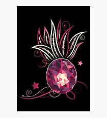 Pineapple design. Summer Fashion. Crystal glass effect. Photographic Print