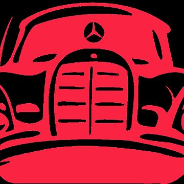 Red MBZ Car Artwork by mbz-tech