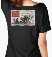 POSTAGE STAMP, CENTENNIAL, 1864 - 1964, Grand Army of the Republic, Union, United Confederate Veterans Women's Relaxed Fit T-Shirt