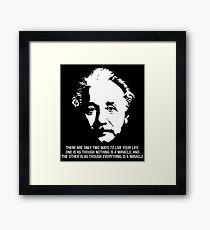 Albert Einstein (Quote) Framed Print